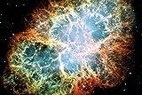 Cosmos Y Universo - Nebulosa del Cangrejo, Después De Una Supernova Póster Impresión Artística (180 x 120cm)