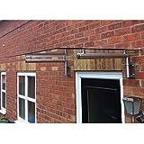 MonsterShop Glasvordach Vordächer Vordach Haustürüberdachung Canopy aus Glas 144cm B x 80cm T