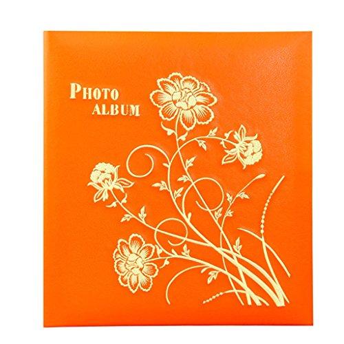 FOOHAO- Album interstitiel écologique d'orange, livre d'art de couverture de broderie d'unité centrale, 360 feuilles photos -6 '' (6 × 4 '' photos)
