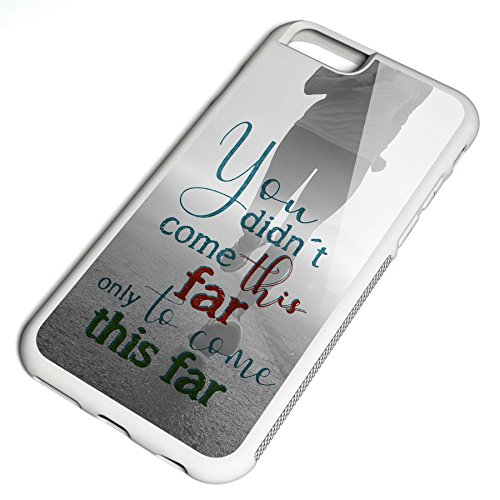 Smartcover Case You did not come this far z.B. für Iphone 5 / 5S, Iphone 6 / 6S, Samsung S6 und S6 EDGE mit griffigem Gummirand und coolem Print, Smartphone Hülle:Samsung S6 EDGE weiss Iphone 6 / 6S weiss