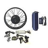 theebikemotor 48V1500W Hub Motor Kit Bici Elettrica con 20AH Samsung 22P Cell Li-on Batteria 4.0 Fat Rim + LCD + Tire (26' x 4.0, Rear Wheel + 7 Speed Gear)