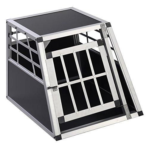 Hundebox Hundetransportbox Transportbox Alubox Hunde Box Reisebox Autobox Gitterbox Alu (klein)