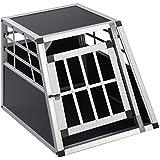 ALU Hundebox Transportbox Hundetransportbox Alubox Box Reisebox Autobox Gitterbox (Groß)