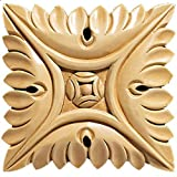 Brown Wood Inc. 01902002HM1 Full Small Square Rosette Set of 2, Hard Maple