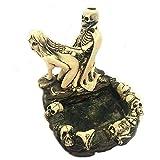 jianbo123 Horreur cendrier Halloween cendrier personnalisé Crâne et Fille Fun d'envoyer Son Petit ami Un Cadeau Tricky, B