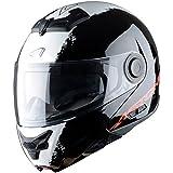 Astone Helmets Klapphelm, Streifen Schwarz, M