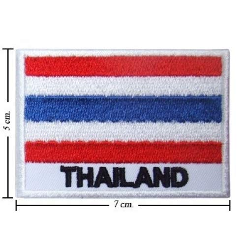 Wow patch Tailandia Bandera nación Style-2 Bordado
