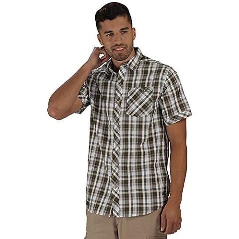 Regatta Herren Deakin Hemd Olive Nacht 2XL