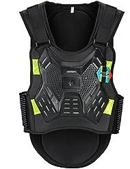 Pellor Chaleco de Ciclismo Motocicleta Anti-Caída Protector para Motociclismo, Ciclismo, Patinar, Esquí (Negro, L)