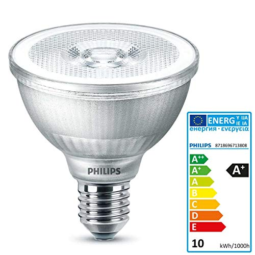 Innen-reflektor Flood Lampe (Philips 9 Watt LED PAR30s Strahler 827 warmweiß extra Spot Lampe 25 Grad Flood dimmbar)