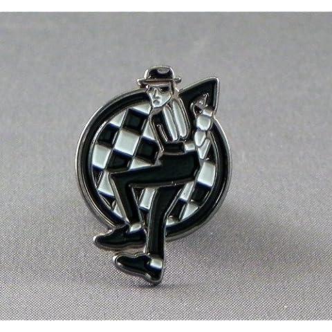 Metal Esmalte Pin Broche Dance Mod Checkers Ska (Chequers)