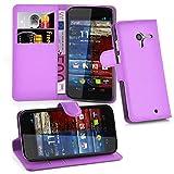 Cadorabo Hülle für Motorola Moto X Hülle in Mangan Violett Handyhülle mit Kartenfach und Standfunktion Case Cover Schutzhülle Etui Tasche Book Klapp Style Mangan-Violett