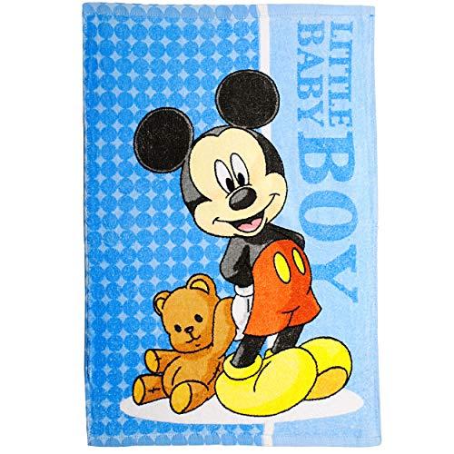 alles-meine.de GmbH kleines Kinderhandtuch / Handtuch /Gästetuch - Disney - Mickey Mouse - Baumwolle 100 % - 40 cm * 60 cm - Frottee / Velours - kleines Gästehandtuch Duschtuch B.. (Teddy Maus Mickey)