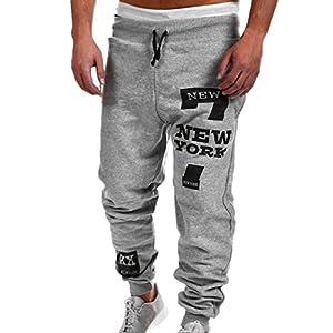 Yogogo Herren Motorradfahrer Leggings Hose Jeans | Trainingshose Hosen | Patchwork Leggings | Sport Fitness Workout Leggins | Elastische Dünne Hosen | Jogginghose Sporthose