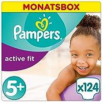 Pampers Active Fit Gr.5+, Junior Plus 13-25kg, Monatsbox
