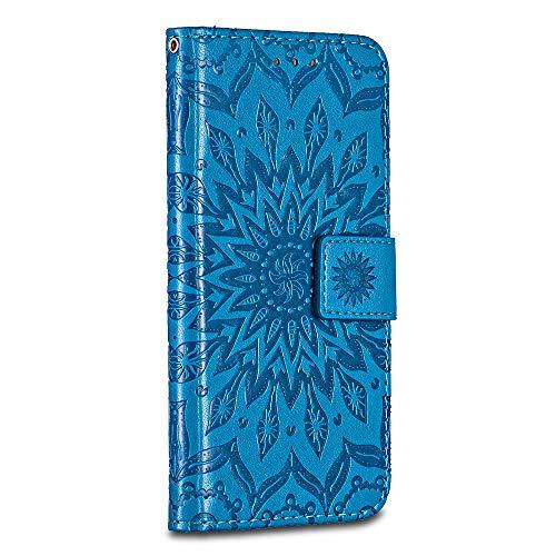 Bravoday Google Pixel XL Hülle, Premium Leder Tasche Flip Wallet Case [Standfunktion][Kartenfächern] Schutzhülle Brieftasche Handyhülle für Google Pixel XL, Blau (Googles Platz)