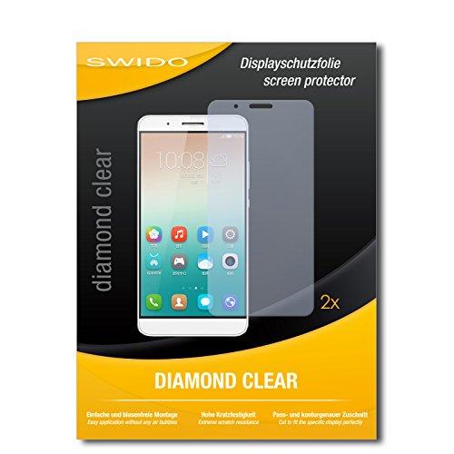 SWIDO 2 x Bildschirmschutzfolie Huawei Honor 7i Schutzfolie Folie DiamondClear unsichtbar