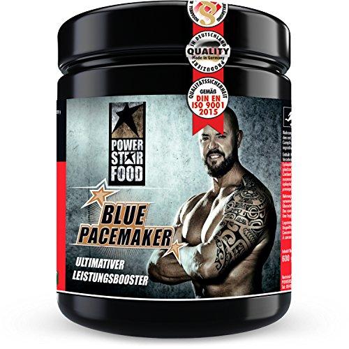 BLUE PACEMAKER - Premium Pre-Workout Booster mit optimalem Nährstoffkomplex - Für mehr Pump, Fokus und Power - Raspberry Geschmack - 600g - Made in Germany