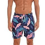 NEEKY Men Pants Fashion Lässige Herren Slim Fit Badehose mit Mesh-Futter und Multi-Code Herren Hosen Cargo Jogger(M,Marine)