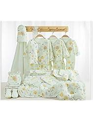 SHISHANG Caja de regalo de bebé 100% puro conjunto de regalo de algodón (17 conjuntos) (22 juegos) Ropa de bebé Niño niña cuatro estaciones para el bebé de 0-1 años de edad , 22 , A