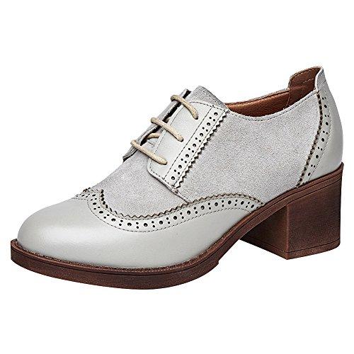 ZQ 2016 Zapatos de mujer - Plataforma - Mary Jane - Oxfords - Exterior / Casual - Semicuero - Negro / Beige , beige-us6.5-7 / eu37 / uk4.5-5 / cn37 , beige-us6.5-7 / eu37 / uk4.5-5 / cn37