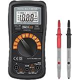 Tacklife DM02A Klassisches Digital Multimeter Auto Range Multi Tester mit Non Contact Voltage zum Messen von Gleich(DC) - und Wechsel(AC)-Spannung, Strom, Dioden sowie Widerstand mit Hintergrundbeleuchtung ( Rot/ Schwarz )