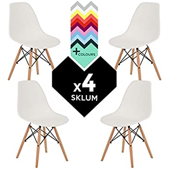 Set di 4 sedie Tower Wood Sedia IMS Bianco - (Scegli un colore)) SKLUM