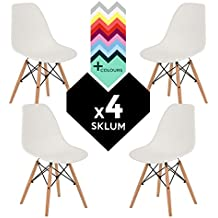 SILLA EAMES DSW (Pack 4) - SILLA TOWER WOOD SKLUM