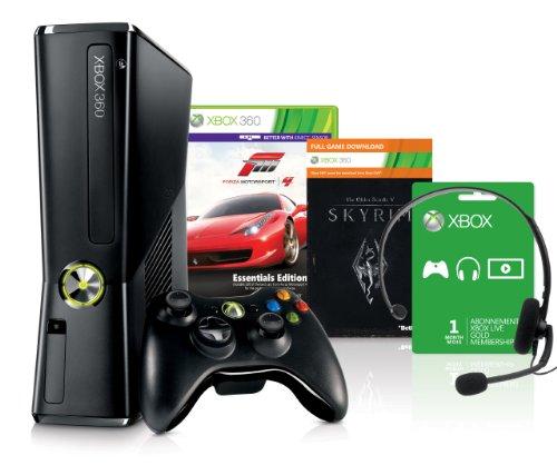Xbox 360 250 GB + Forza Motorsport 4 - Essential Edition + Skyrim [Download] Bundle