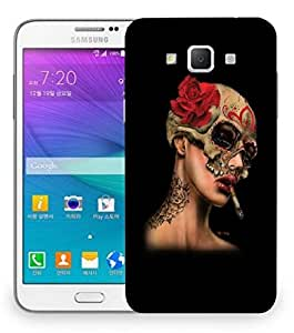 Snoogg Girl Smoking Designer Protective Back Case Cover For Samsung Galaxy Grand Max G7200