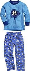 Playshoes Jungen Single-Jersey Fußball Zweiteiliger Schlafanzug, Blau (original 900), (Herstellergröße: 116)