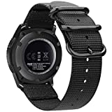 Bands for Galaxy Watch 46mm / Gear S3, Fintie Soft Woven Nylon 22mm Band Adjustable Replacement Sport Strap with Metal Buckle