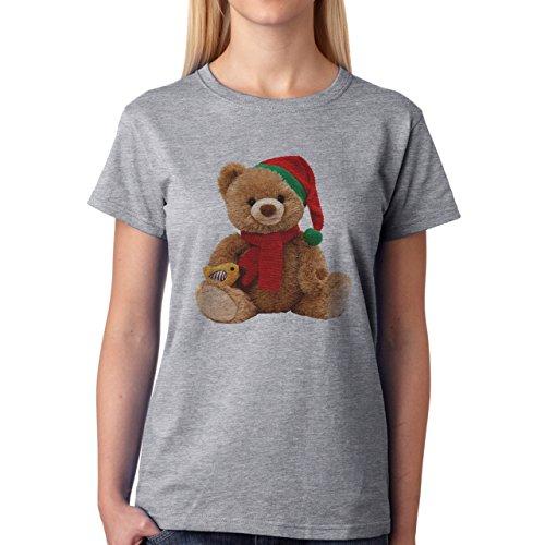 Yogi Bear Cartoon Animal Red Hat Damen T-Shirt Grau