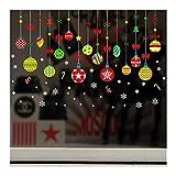 QTZJYLW Weihnachts-Fensteraufkleber Wandaufkleber Weihnachtsdekoration Removable Decal Dekor Weihnachten Transparent Fenster Wallpaper Shop