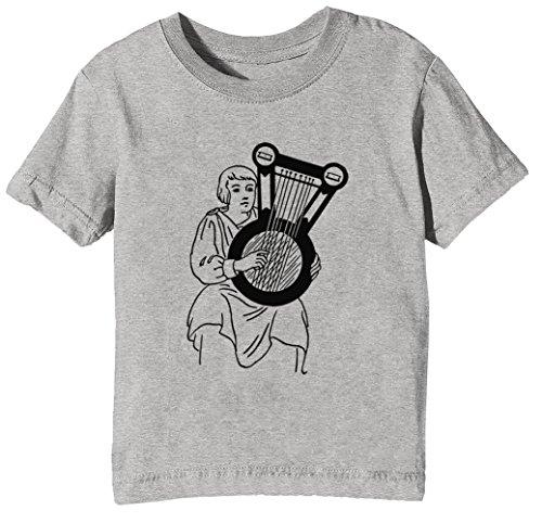 Psalter Kinder Unisex Jungen Mädchen T-Shirt Rundhals Grau Kurzarm Größe XL Kids Boys Girls Grey X-Large Size XL