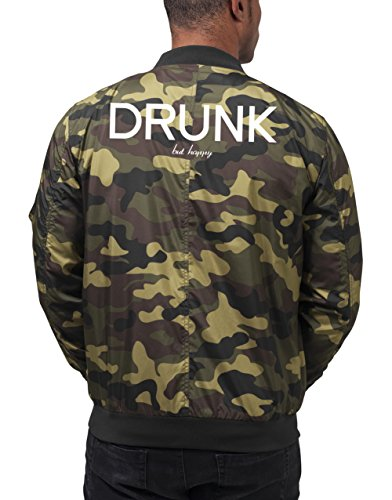 Drunk But Happy Bomberjacke Camouflage Certified Freak-L