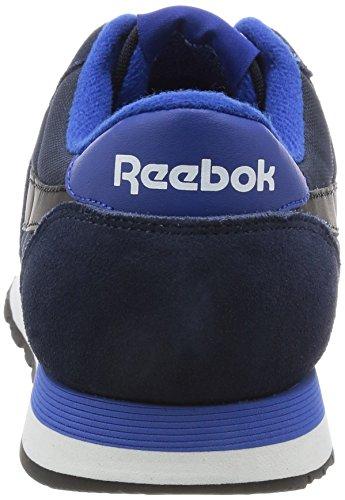Homme Nylon Azul Blanco colegial Zapatillas Royal Chándal Bajos Marino Negro Reebok Blau Deporte De Azul Clásico qBx0557H
