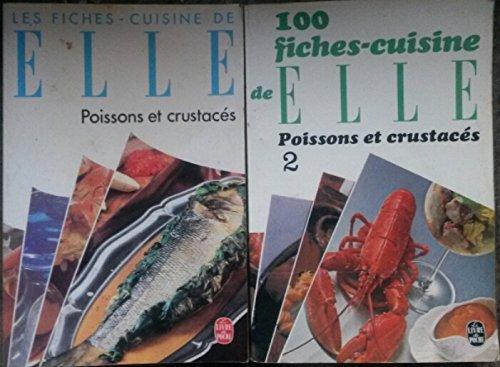 Les fiches cuisine de ELLE poissons et crustacés en 2 tomes par Madeleine Peter/ Monique Maine