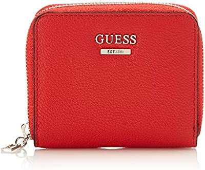 Guess GUESSMichy Slg Small Zip AroundMujerMulticolor (Red Multi) 2x11x9 Centimeters (W x H x L)