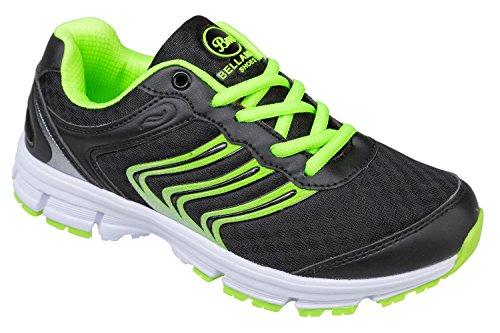 gibra, Sneaker donna Nero (Nero/Verde fluo)