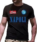 T-Shirt Maglietta Napoli Serie A Personalizzata (m, Nero)