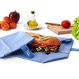 Roll'eat Boc'N'Roll-Eco Blue - Reusable Sandwich Wrapper