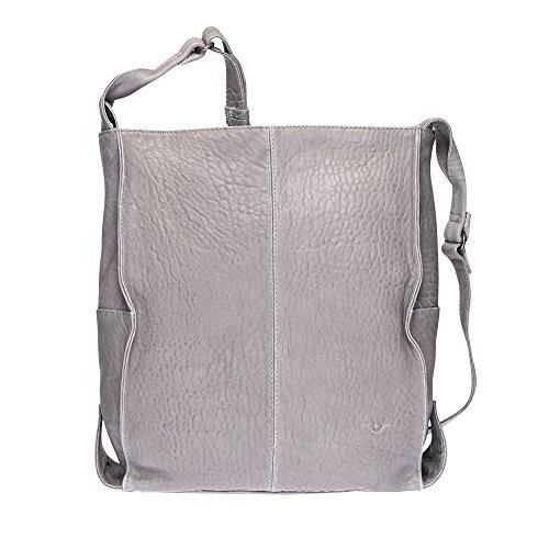 VOi Leather Design, Borsa a secchiello donna 36 x 33 x 14 cm (HxBxT) Grau