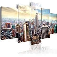 murando Cuadro en Lienzo 200x100 cm! 5 partes - Grande Formato - Impresion en calidad fotografica - Cuadro en lienzo tejido-no tejido - ciudad New York 030211-63 200x100 cm