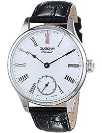 Dugena Mechanik Herren-Armbanduhr Epsilon 4 - Handaufzug Analog Handaufzug Leder 7000058