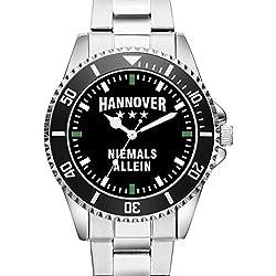 Hannover - Niemals Allein - Supporter Fan KIESENBERG ® Herren Armbanduhr 2360