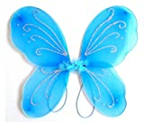 3-7 años - Accesorio para disfraces - Disfraz - Carnaval - Halloween - Teatro - Alas de mariposa - Hada - Celeste - Niña