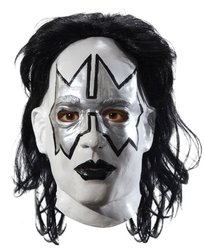 Kiss Hard Rock Latex Maske Spaceman Stern (Spaceman Halloween Kostüm)