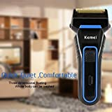 KM Men's 3D Cordless Rechargeable Reciprocating Double Blades Electric Shaver