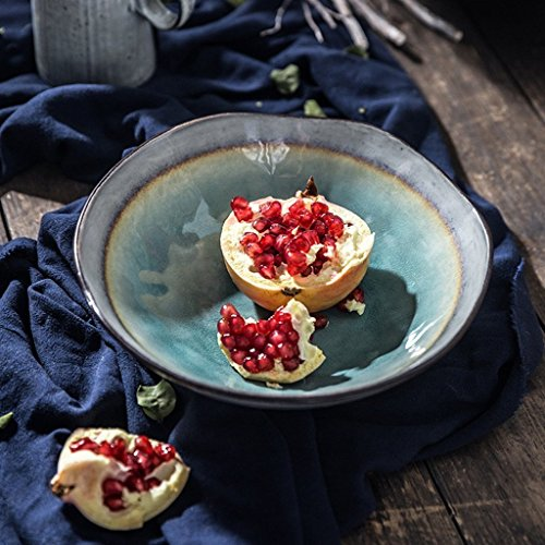 Große Suppe Ramen Nudelschale Kreative Obstsalat Pasta Schüssel Keramik Mischen Serving Bowl Ofen...